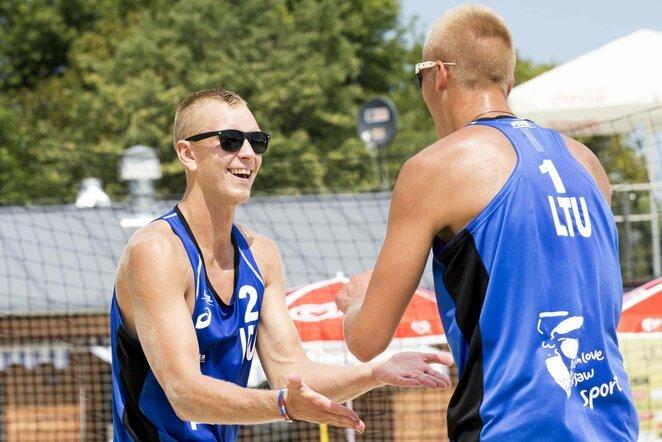 Arnas Rumševičius ir Lukas Každailis | FIVB nuotr.