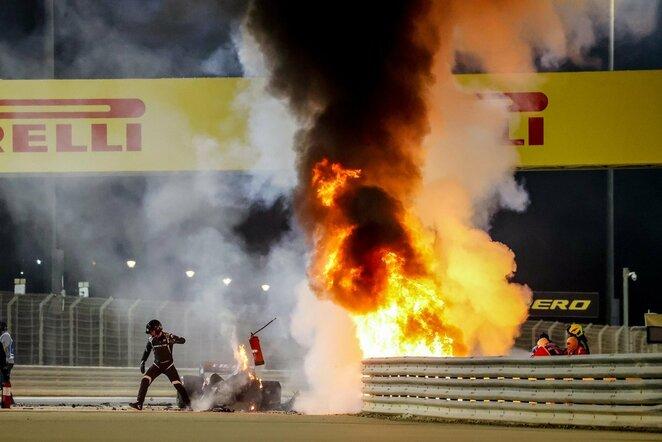 Romaino Grosjeano avarija   Scanpix nuotr.