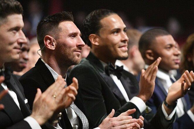 Lionelis Messi ir Virgilas van Dijkas   Scanpix nuotr.