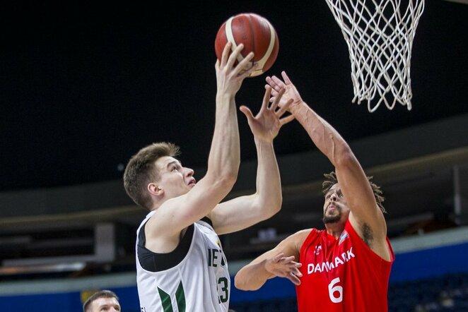 Lietuva –Danija rungtynių akimirka | Roko Lukoševičiaus/BNS Foto nuotr.