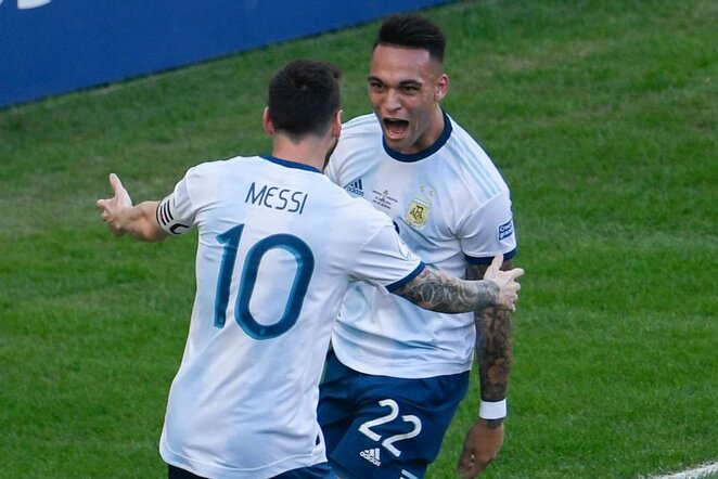 Lautaro Martinezas ir Lionelis Messi   Scanpix nuotr.