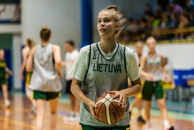 Lietuvos moterų krepšinio rinktinės tarpusavio rungtynės | Lino Žemgulio nuotr.