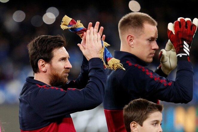 Lionelis Messi ir Marcas-Andre ter Stegen | Scanpix nuotr.