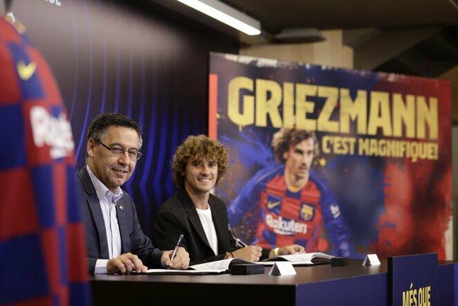 """Antoine'as Griezmannas buvo pristatytas Barselonoje   """"Twitter"""" nuotr."""