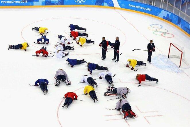 Jungtinė Korėjų komanda | Scanpix nuotr.