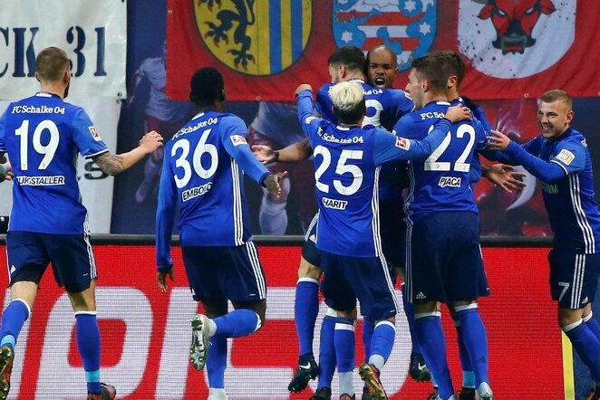 "Vokietijos ""Bundesliga"": ""Leipzig"" - Gelzenkircheno ""Schalke"" (2018.01.13) | Scanpix nuotr."