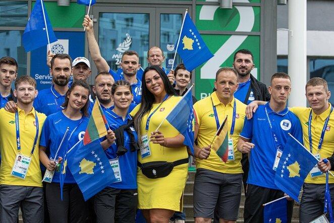 Lietuvos ir Kosovo sportininkai   Vytauto Dranginio nuotr.