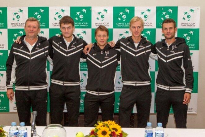 Lietuvos vyrų teniso rinktinė   Sauliaus Čirbos nuotr.