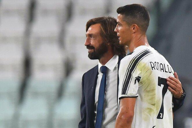 Andrea Pirlo ir Cristiano Ronaldo | Scanpix nuotr.