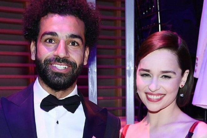 Mohamedas Salah ir Emilija Clark | Organizatorių nuotr.