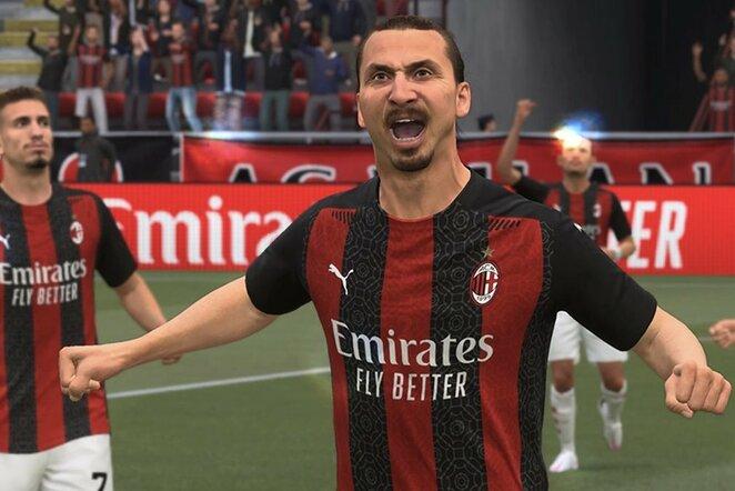 Zlatanas Ibrahimovičius žaidime FIFA21 | Organizatorių nuotr.