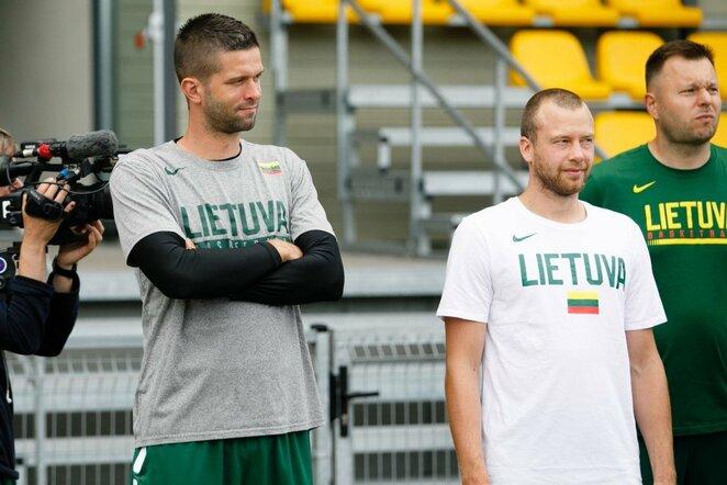 Lietuvos krepšinio rinktinės treniruotė Palangoje   Eriko Ovčarenko / BNS foto nuotr.