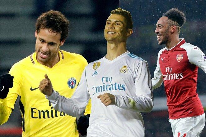 Neymaras, C.Ronaldo ir P.E.Aubameyangas | Scanpix nuotr.