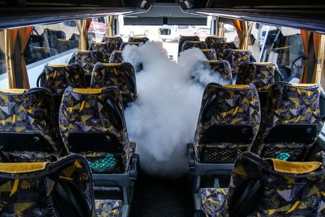 Krepšininkus vežantiems autobusams – aukščiausi higienos standartai | Tomo Kuktos nuotr.