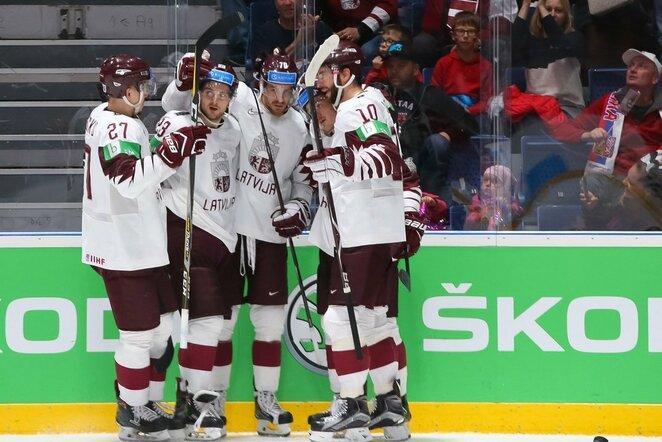 Latvių ir norvegų rungtynės | IIHF nuotr.