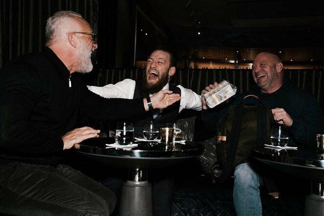 Conoras McGregoras susitiko su Dana White'u ir Lorenzo Fertitta | Instagram.com nuotr