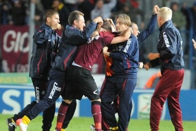 """Livorno"" džiaugiasi pergale   LaPresse/Scanpix nuotr. LaPresse/Scanpix"