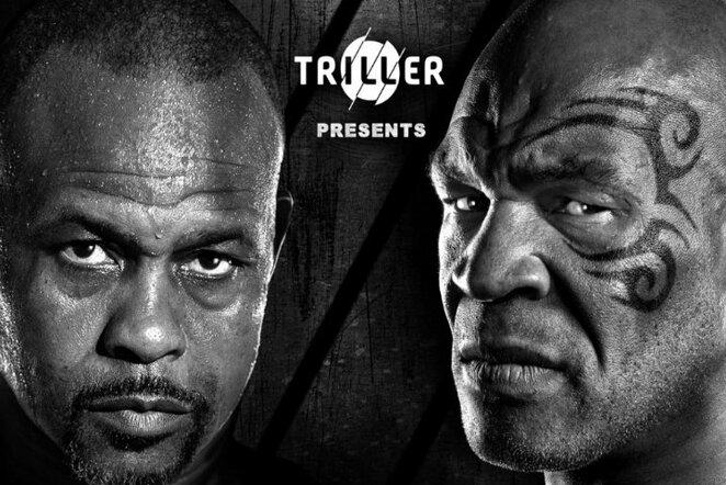 Roy Jonesas ir Mike'as Tysonas | Organizatorių nuotr.
