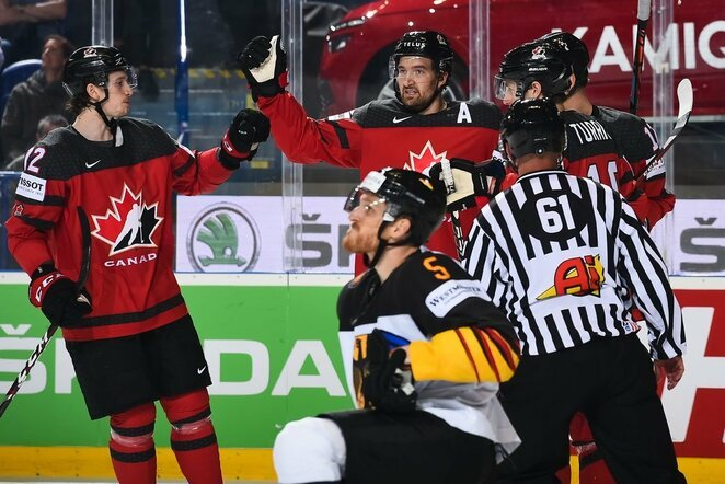Kanadiečių ir vokiečių rungtynės | IIHF nuotr.