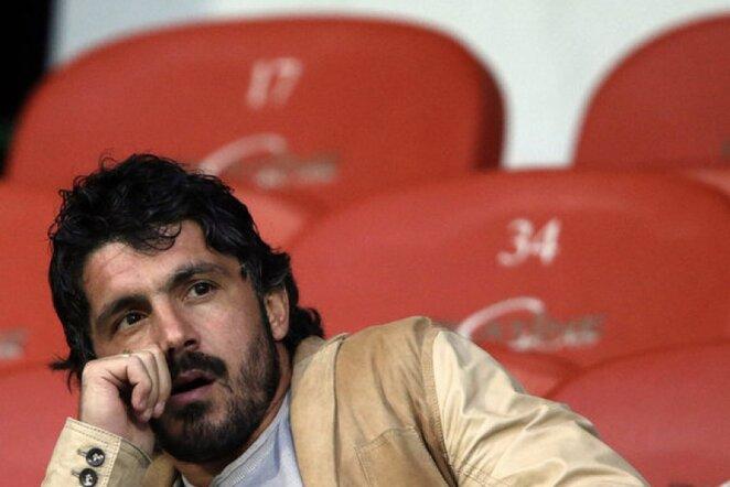 Gennaro Gattuso moterų futbole neįsivaizduoja   Reuters/Scanpix nuotr.