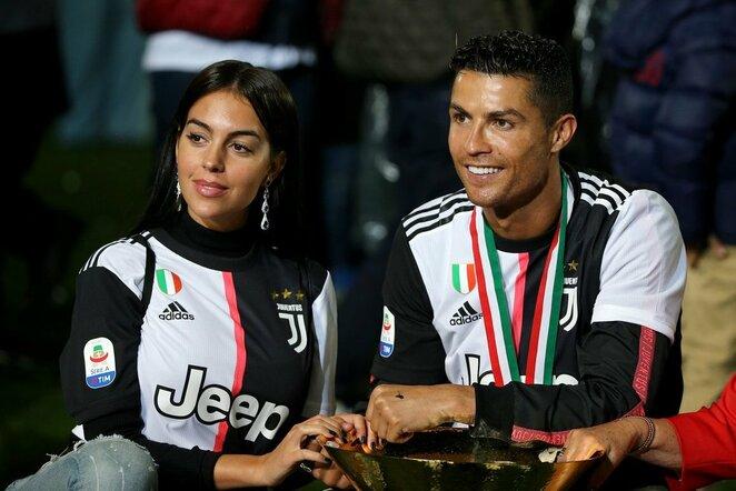Georgina Rodríguez ir Cristiano Ronaldo | Scanpix nuotr.