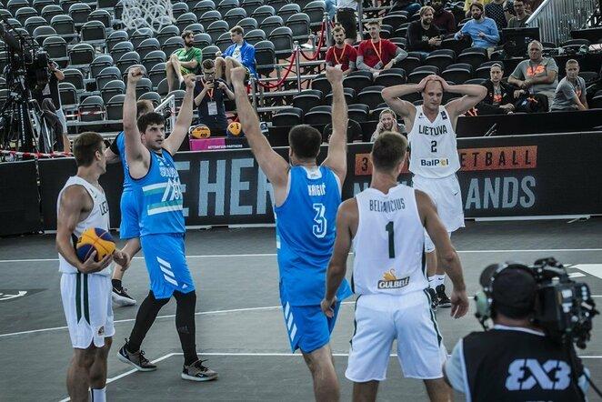 Lietuvių ir slovėnų rungtynės | FIBA nuotr.