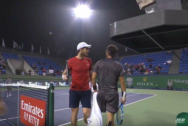 Andy Murray'us ir Fabio Fognini | Youtube.com nuotr.