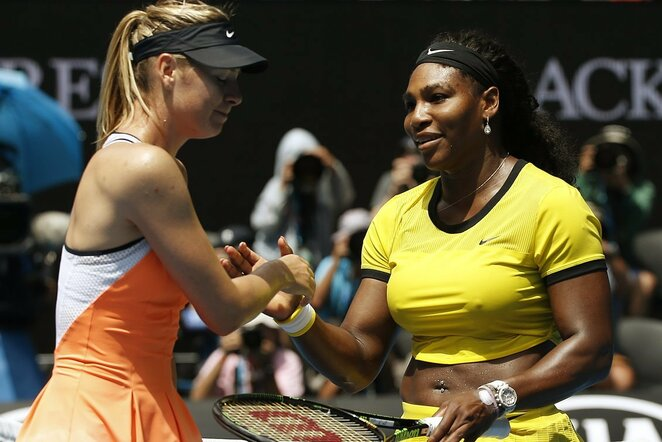 Marija Šarapova ir Serena Williams | Scanpix nuotr.