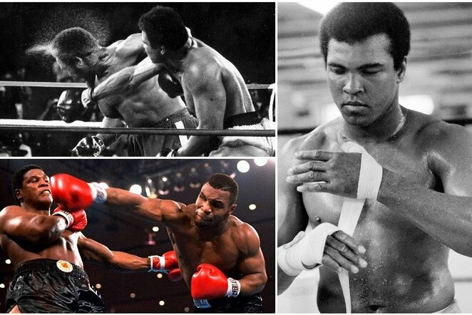 Muhammadas Ali, George'as Foremanas ir Mike'as Tysonas | Scanpix nuotr.