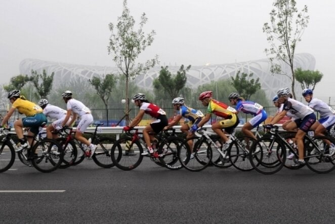 Dviračių lenktynės | Xinhua/Photoshot nuotr.