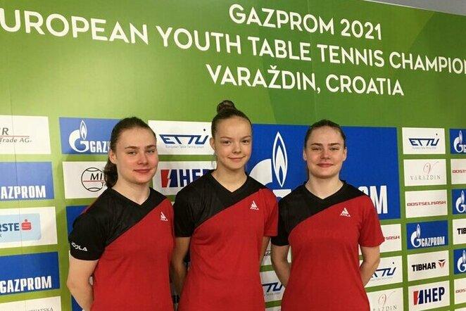 Lietuvos jaunių merginų stalo teniso rinktinė | Organizatorių nuotr.