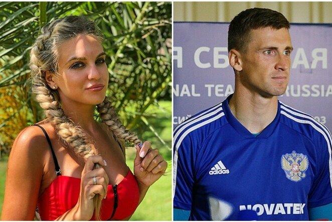 Ksenija ir Sergejus Pesjakovai   Instagram.com nuotr