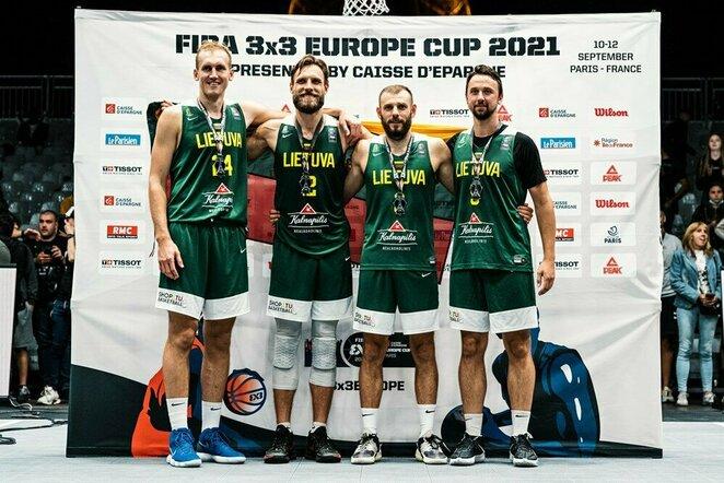 Lietuvos vyrų 3x3 krepšinio rinktinė | FIBA nuotr.