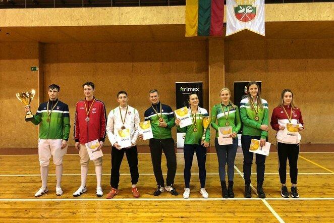 Lietuvos fechtavimo taurės varžybų prizininkai | Organizatorių nuotr.