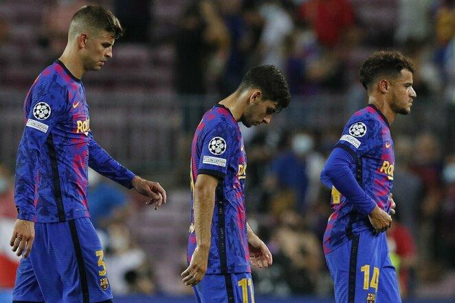 Gerardas Pique, Yusufas Demiras ir Philippe Coutinho | Scanpix nuotr.