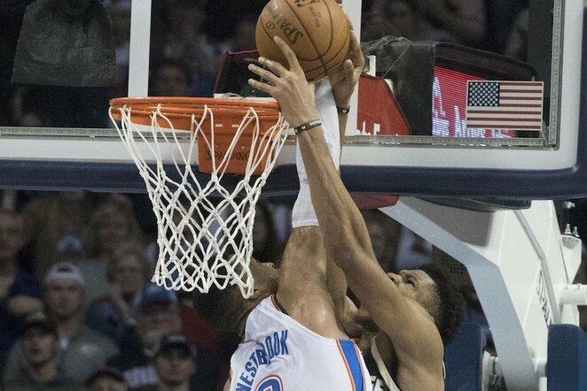 Westbrookas ir Antetokounmpo | Scanpix nuotr.
