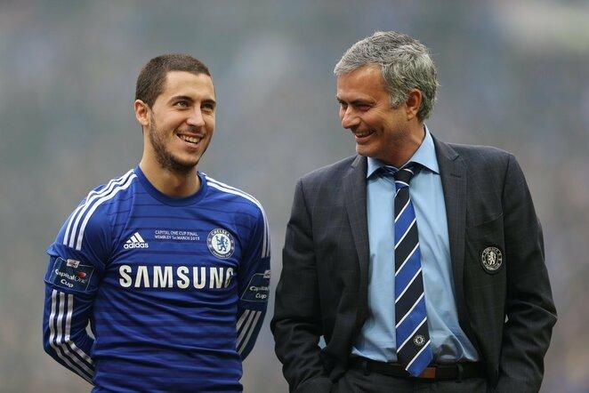 Edenas Hazardas ir Jose Mourinho | Scanpix nuotr.