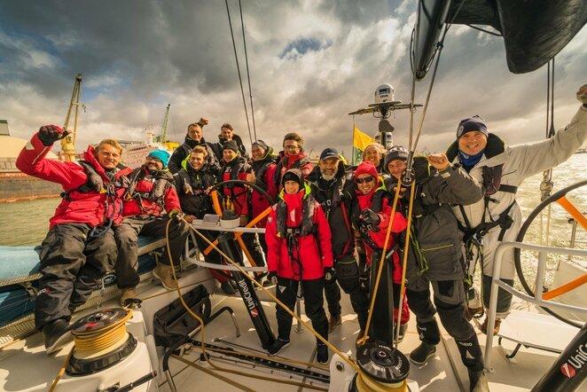 """Lietuvos """"Ambersail 2"""" susirungs su identiška """"Sailing Poland"""" jachta (Girmanto Neniškio nuotr.)   Organizatorių nuotr."""