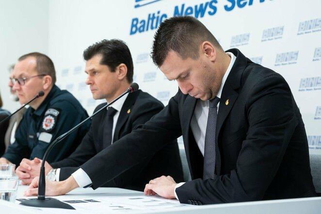 LFF spaudos konferencija | Žygimanto Gedvilos / BNS foto nuotr.