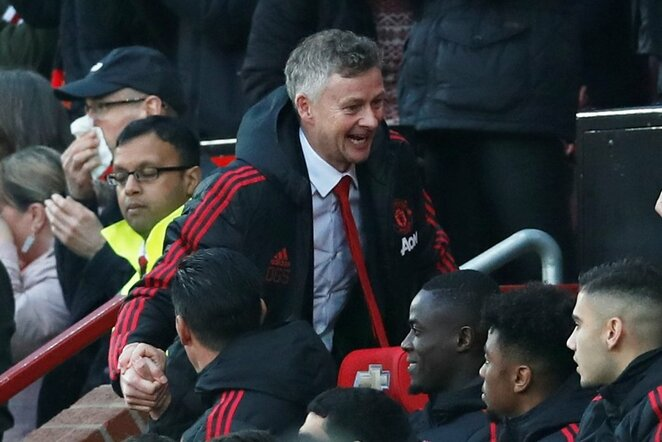 """Manchester United"" – ""Huddersfield Town"" rungtynių akimirka  | Scanpix nuotr."