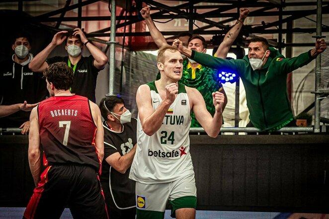 Lietuvių ir belgų rungtynės | FIBA nuotr.