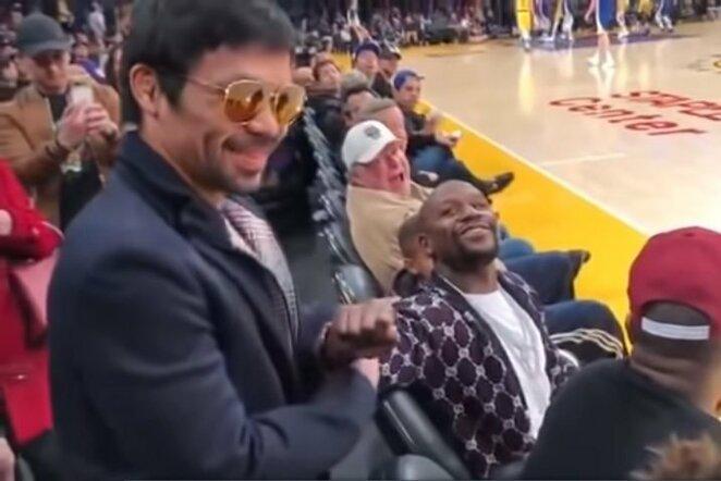 Manny Pacquiao ir Floydas Mayweatheris | Youtube.com nuotr.