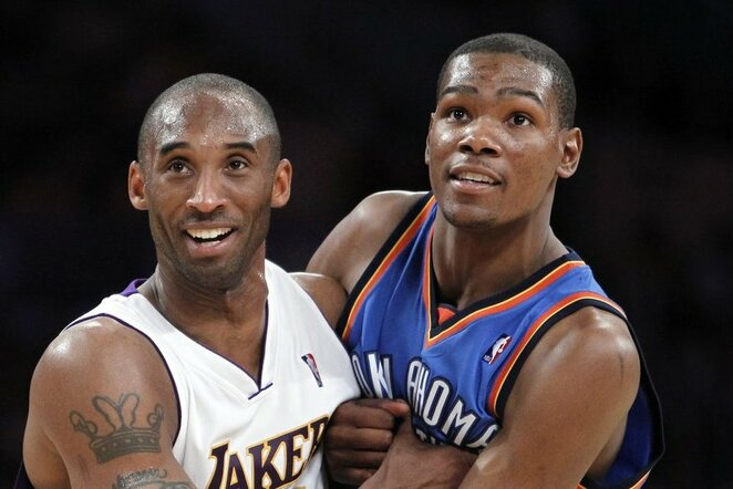 Kobe Bryantas ir Kevinas Durantas 2010 m. | Scanpix nuotr.