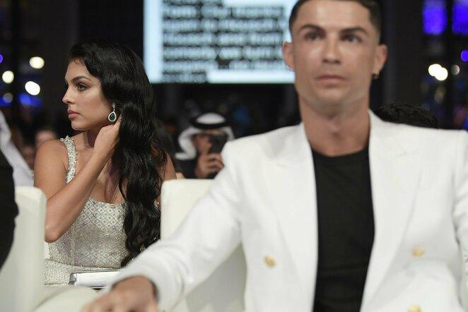 Georgina Rodriguez ir Cristiano Ronaldo | Scanpix nuotr.