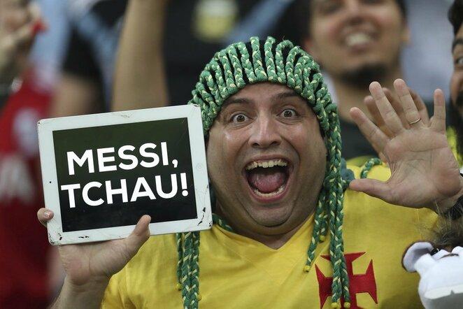 Brazilijos ir Argentinos rungtynių akimirka | Scanpix nuotr.