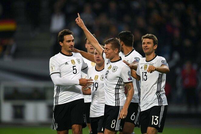Vokietijos – Čekijos rungtynių akimirka | Scanpix nuotr.