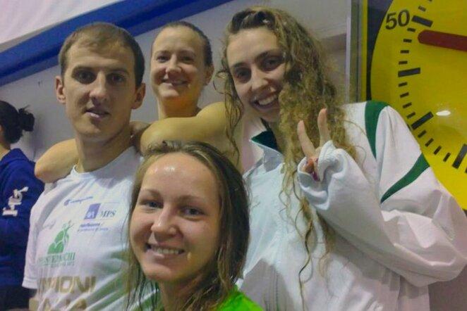 Lietuvos delegacija Italijoje | ltuswimming.lt nuotr.