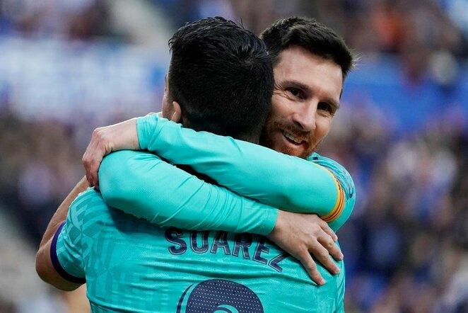Luisas Suarezas ir Lionelis Messi   Scanpix nuotr.