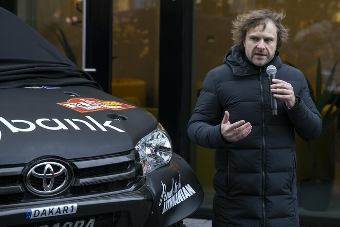 "Benediktas Vanagas pristatė ""Inbank Team Pitlane"" komandą | Mildos Kolesnikovaitės / BNS foto nuotr."