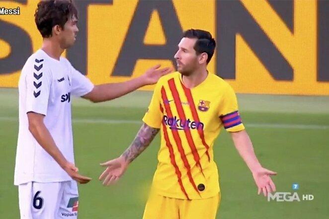 "Javieras Ribellesas ir Lionelis Messi   ""Twitter"" nuotr."